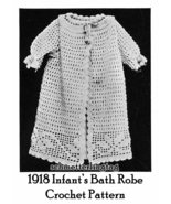 1918 Titanic WWI Crochet Bath Robe Pattern for Baby Infant DIY Child Ree... - $5.77