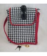 large houndstooth messenger bag - $18.00