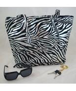 large designer style zebra tote - $15.00