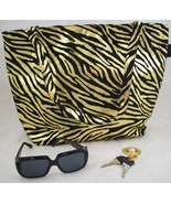 Tiger print designer style handbag - $15.00