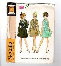 Vtg McCalls #9331 1968 Seventeen Pattern Ruffle Surplice Dress Uncut Jun... - $12.38
