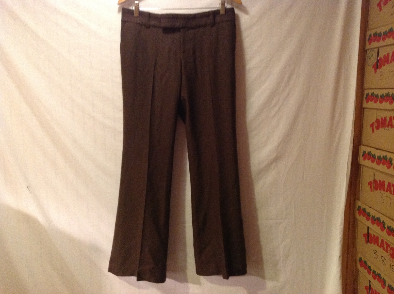 Juicy Couture Womans Brown Tweed Dress Pants