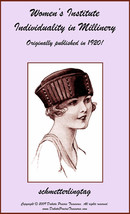 1920 Millinery Book Make Flapper Era Hat Styles Making Hats Milliner DIY... - $13.69