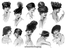 1920 Millinery Book Make Flapper Era Hat Styles Making Hats Milliner DIY Guide image 4