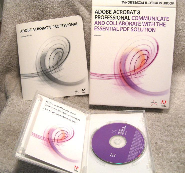 adobe acrobat 8 0 professional windows web desktop publishing. Black Bedroom Furniture Sets. Home Design Ideas