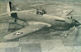 "P-40 CURTISS vintage WWII-era U.S. Army/Navy plane 5"" x 8"" photo card - $9.89"