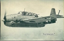 "AVENGER vintage WWII-era U.S. Army/Navy plane 5"" x 8"" photo card - $9.89"