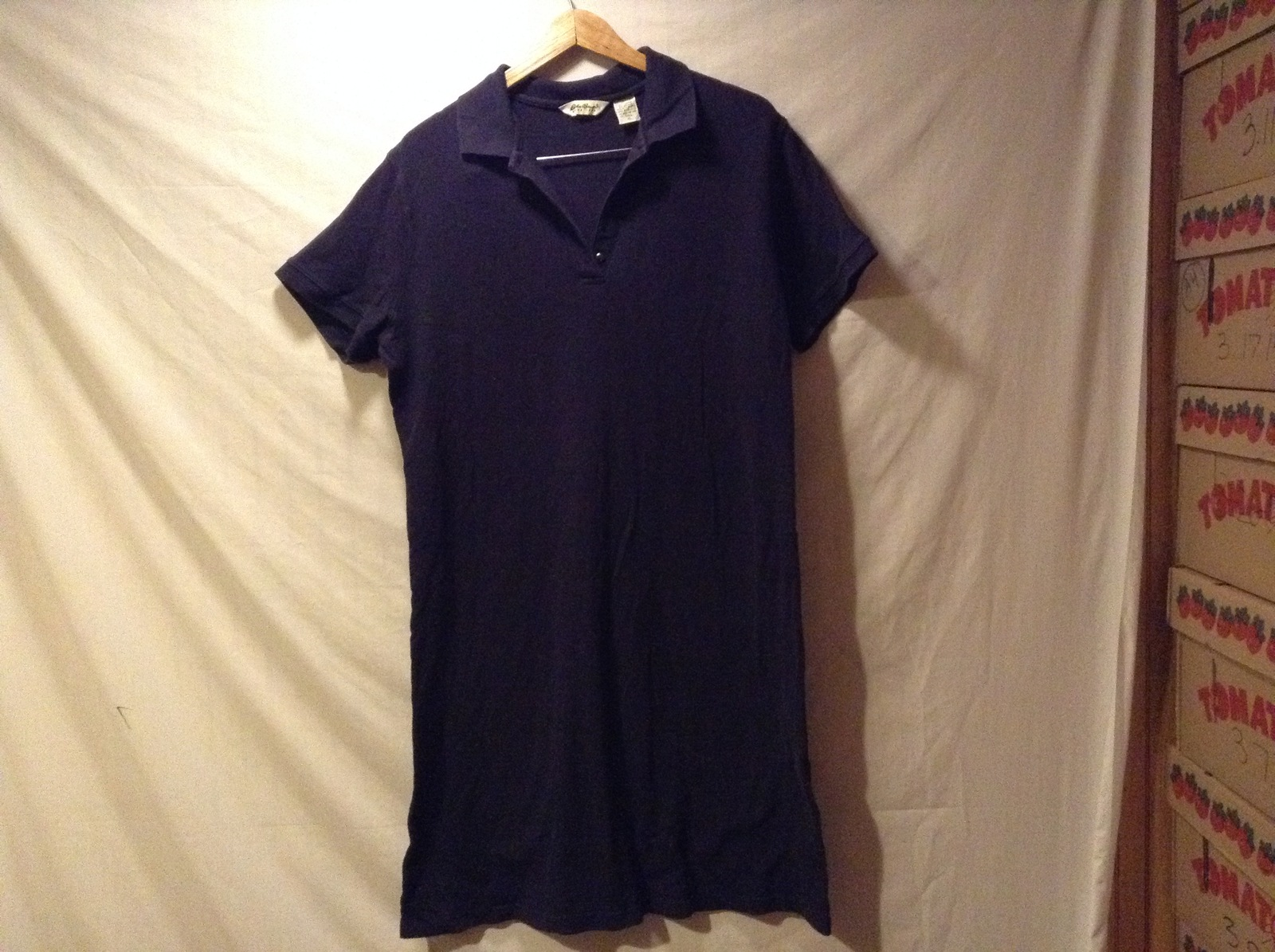 Eddie Bauer Mens Short sleeve Navy Blue Polo Shirt, Size XL