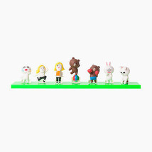 Korea Naver LINE Friends Mini Figure Set 2 (7pcs) Toys Character Desktop... - €21,33 EUR