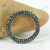 Fashion Classic Crystal Ring Pendant Connector Beads Fit Bracelet 3 Colo... - $3.50+