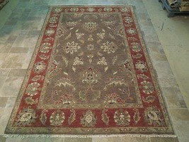 Brown-Brick Red Hand Woven 6' x 9' Vegetable Dyed Home dyed Wool Area Rug - $824.72