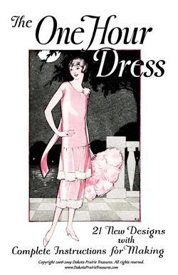 1925 Flapper Era Dress Making Book Make One Hour DIY Frocks Fashion Design Guide