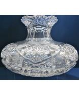 American Brilliant Period hand Cut Glass FLOWER CENTER Antique abp CENTE... - $303.53