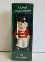 1981 Goebel Annual Christmas Ornament Toy Soldier 4th Edition - $10.80