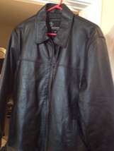 Wise Brothers jacket/coat women's size xl fine softest leather black fal... - $42.75