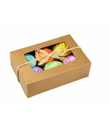 Natural Cupcake Boxes Large 6 Cavity Bakery Win... - $36.33