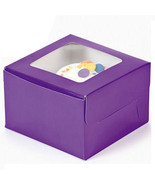 Purple Single Cupcake Boxes 12 Pk Bakery Solid Color Window Boxes Baking... - $14.95