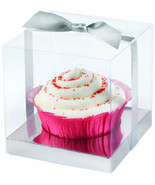 formal cupcake boxes clear 20 ct bakery gift boxes weddings bridal showe... - $32.95