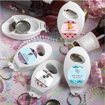 100 Personalized Wedding Bottle Openers & Key Chain Favors Reception Par... - $77.40
