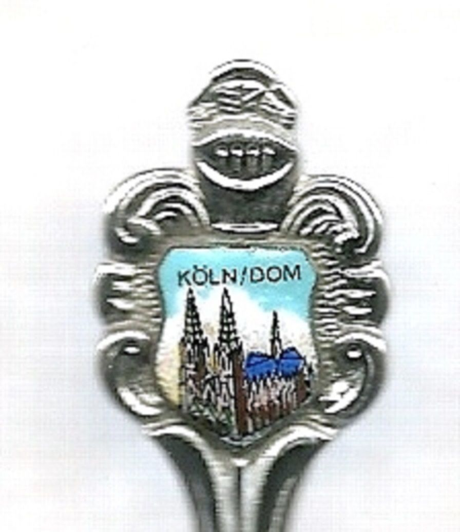 Collector Souvenir Spoon Germany Kolner Dom Cologne Cathedral - $14.99