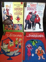 Lot of 4 Vintage Gold Key Comic Books; Sword In The Stone, Three Stooges - $46.75
