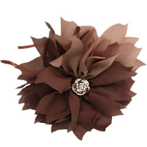 Brown Centered Flower Fabric Headband - $9.99