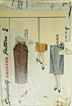 Vtg 1950 Sewing Pattern Simplicity #3330 Pencil Skirts Pockets New Look ... - $17.42