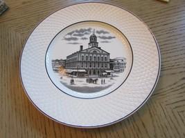 "SPODE MANSARD COPELAND ENGLAND DISPLAY PLATE FANEUIL HALL BOSTON 10.75"" - $9.85"