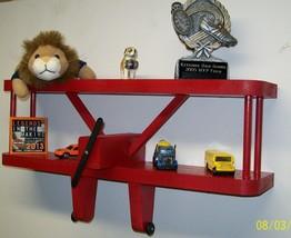 Aviation Airplane Display Shelf For Kids' Rooms / Nursery Theme / 18 inc... - $43.99