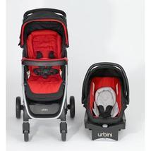 Baby Stroller Car Seat Full Travel System Infant Carriage Red Seat Buggy... - $265.99