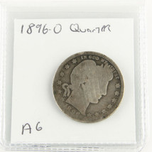 1896 O BARBER SILVER QUARTER COIN SEMI KEY DATE GOOD CONDITION - $35.63
