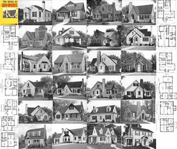 1939 WWII Era Home Floor Plans Book Post-Depression Classic House Design... - $13.69