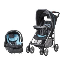 Baby Stroller Car Seat Recline Travel System Infant Carriage Blue Buggy Kids New - $255.99