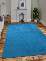 Rugsotic Carpets Hand Knotted gabbeh Silk 3'x5' Area Rug Solid Blue LS0111 - $60.89