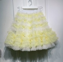 Black Knee Length Layered Tulle Skirt Plus Princess Tulle Skirt Holiday Outfit image 10