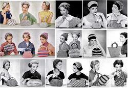1954 Hiawatha Crochet Book Millinery Bag Purse Patterns Half-hats Swing Retro