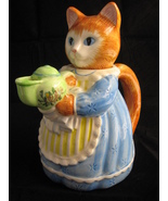 Vintage Collectible Avon Cat With Apron Serving Pitcher 1992 - $13.95
