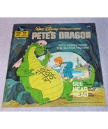 Vintage Walt Disney Pete's Dragon Read Along Book and Record 1977 - $5.95
