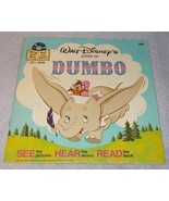 Vintage Walt Disney's Story of Dumbo Read Along Book and Record 1978 - $5.95