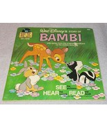 Vintage Walt Disney's Story of Bambi Read Along Book and Record 1977 - $6.95