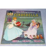 Vintage Walt Disney's Story of Cinderella Read Along Book and Record - $6.95