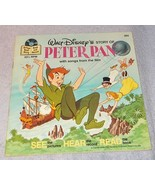 Vintage Walt Disney's Story of Peter Pan Read Along Book and Record 1977 - $7.95