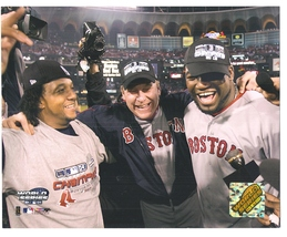 2004 World Series Martinez Schilling Ortiz Boston Red Sox 8X10 Color Photo - $3.99