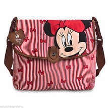 Disney Store Minnie Mouse Diaper Bag Babymel Red New - $189.95