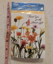 Hallmark Shower Thank You Card 8 Pack Sealed Wildflowers - $5.00