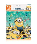 Minion's 8 Favor Loot Bags Birthday Party Minion Despicable Me - $4.70