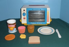 Vintage Fisher Price Fun-with-Food #2117 Golden Glow Toaster Oven Comp/E... - $70.00
