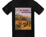 U.S. ARMY MEN WANTED FOR THE ARMY CANNON Black T-Shirt GILDAN M L XL XXL XXXL