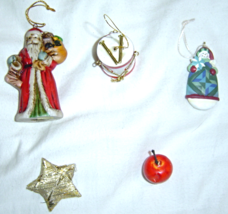 Set of 5 Mini Christmas Ornaments - $8.99