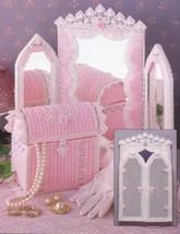 Royal Rose Mirror Set Annie's Plastic Canvas Pattern/Instructions Leaflet NEW - $2.67
